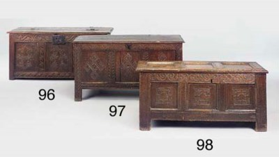 An oak chest, West Country, la