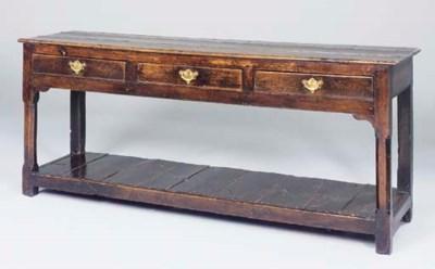 An oak dresser, possibly Welsh