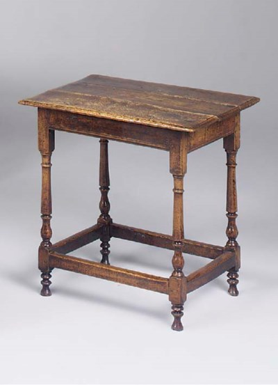 An oak centre table, English,