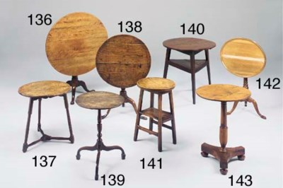 An elm and oak cricket table,