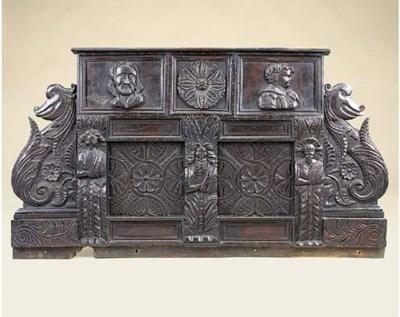 An English carved oak mantel p