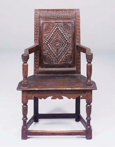An oak open armchair, Salisbur
