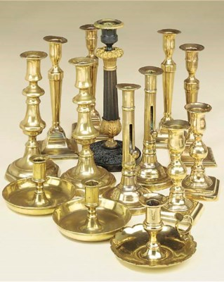 A collection of English brass