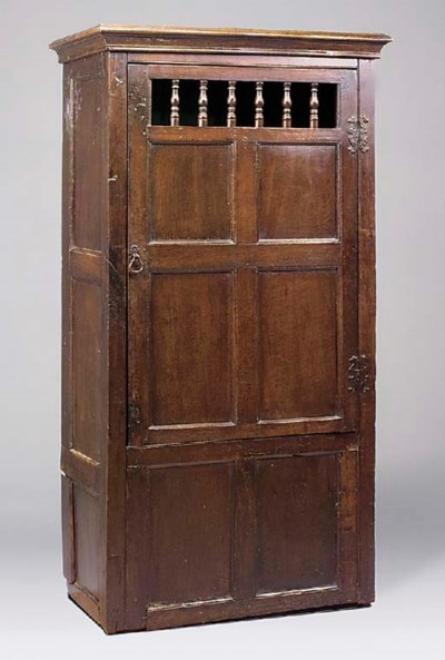An oak cupboard, English, made