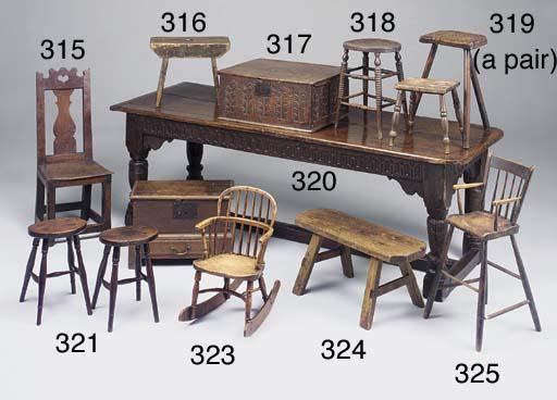 An oak high back chair, probab