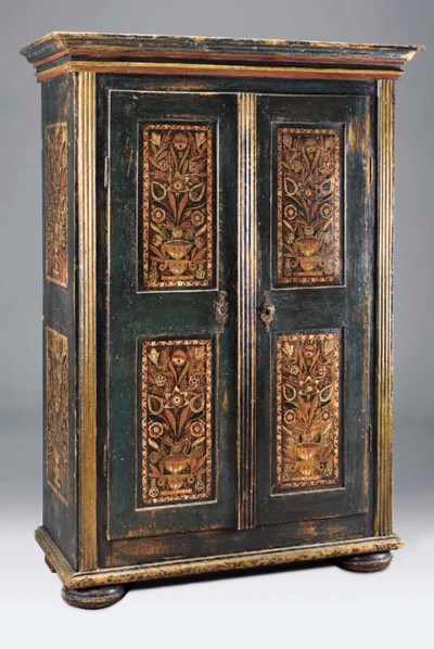 A painted pine Armoire, Tyrole