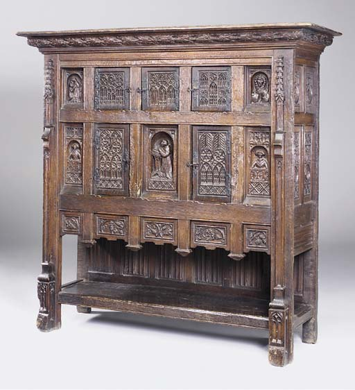 An oak cabinet, French, late 1