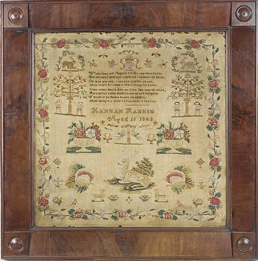 An early Victorian sampler, da