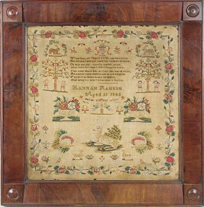An early Victorian sampler, da