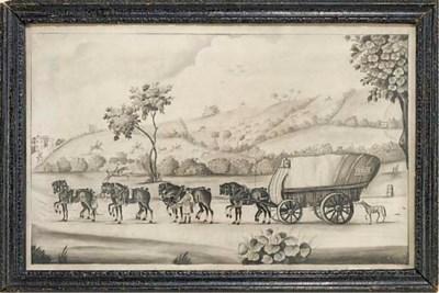A George III monochrome waterc