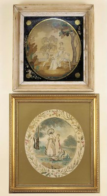Two Regency silkwork pictures