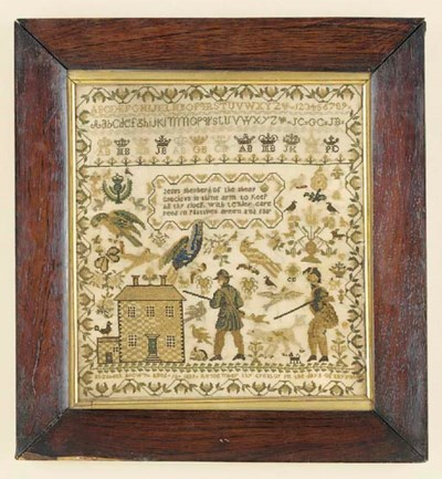 An early Victorian needlework