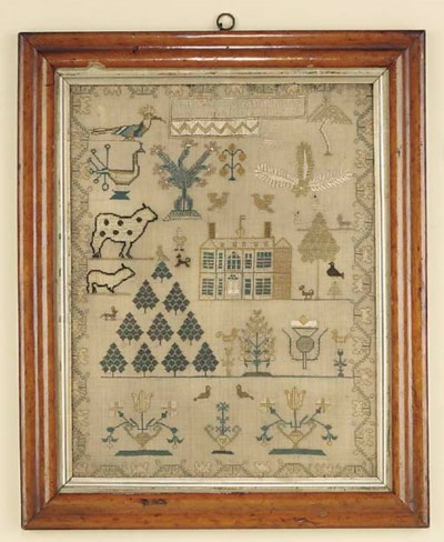 A George IV needlework sampler
