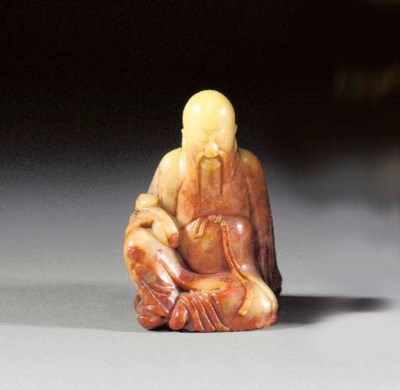 A soapstone model of a bearded