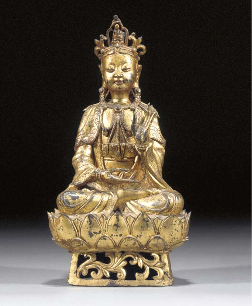 A lacquered and gilt bronze se