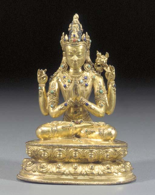 A Sino-Tibetan embellished gil