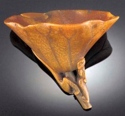 A small rhino horn libation cu