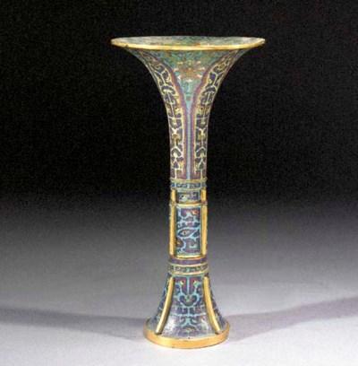 A cloisonne gu vase 17th Centu