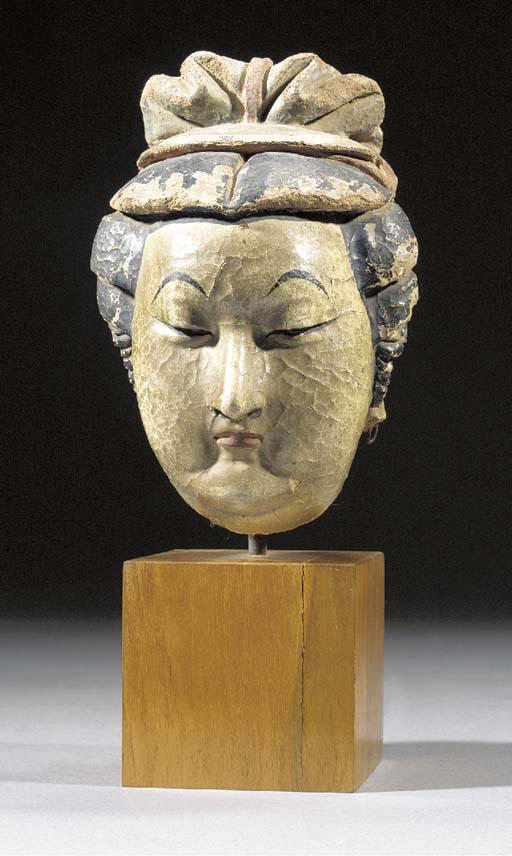 A stucco head of a lady Ming D