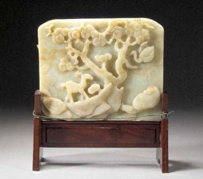 A celadon jade rectangular sha