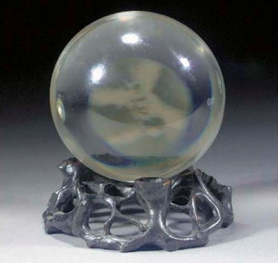 A rock crystal sphere 18th/19t