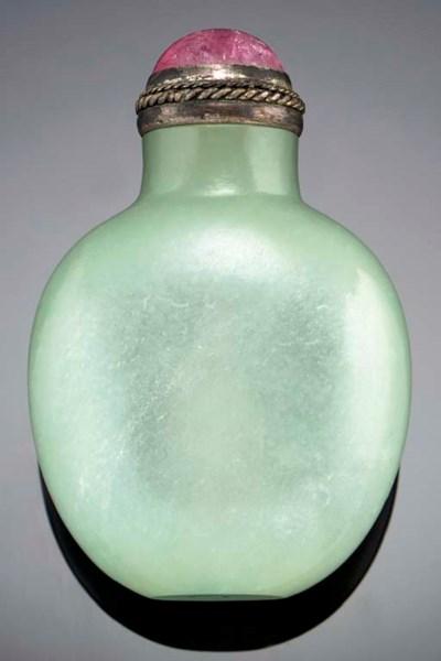 A very well-hollowed celadon j