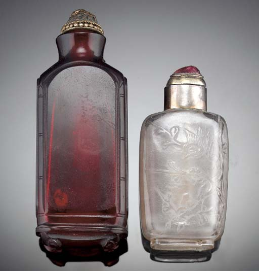 A crystal snuff bottle 19th Ce