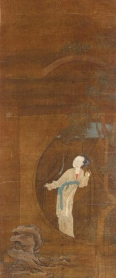 A hanging scroll painting 18th