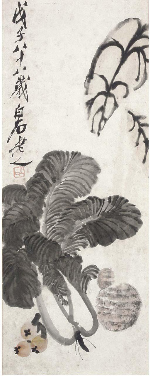 Qi Baishi, a hanging scroll 20