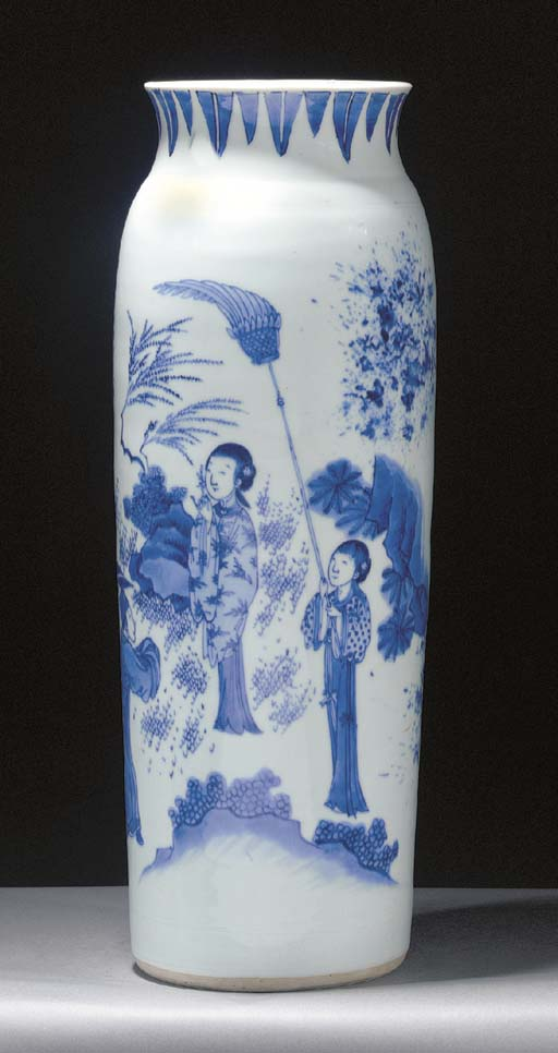 A Blue and White Sleeve Vase T