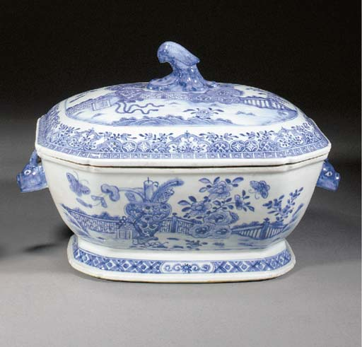 A Blue and White Octagonal Tur
