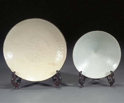 A Dingyao cream glazed shallow