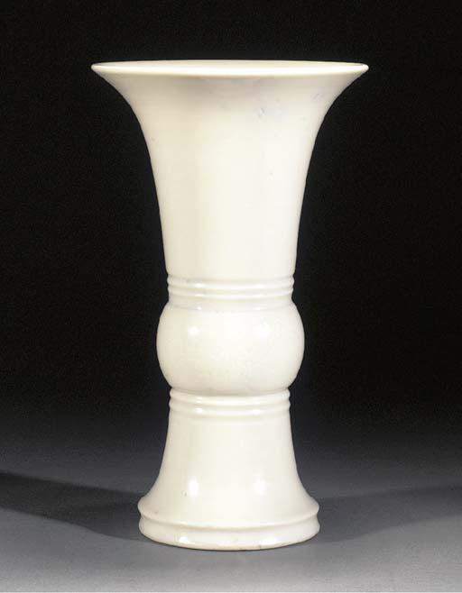 A blanc de chine gu vase late
