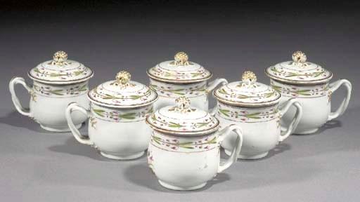 Six famille rose custard cups