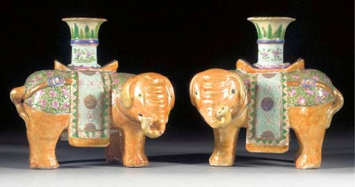 A pair of Cantonese candlestic