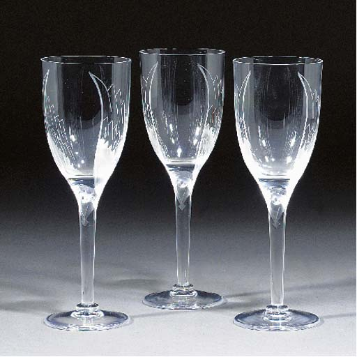 SIX POST-WAR GLASSES