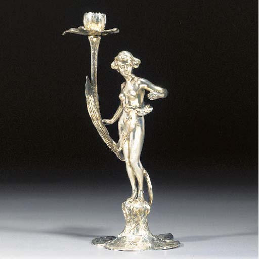 An Argentor silvered metal fig