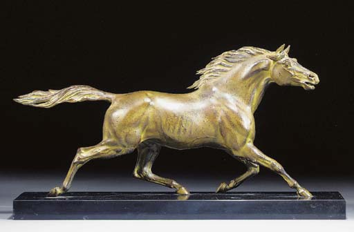 A patinated spelter figure