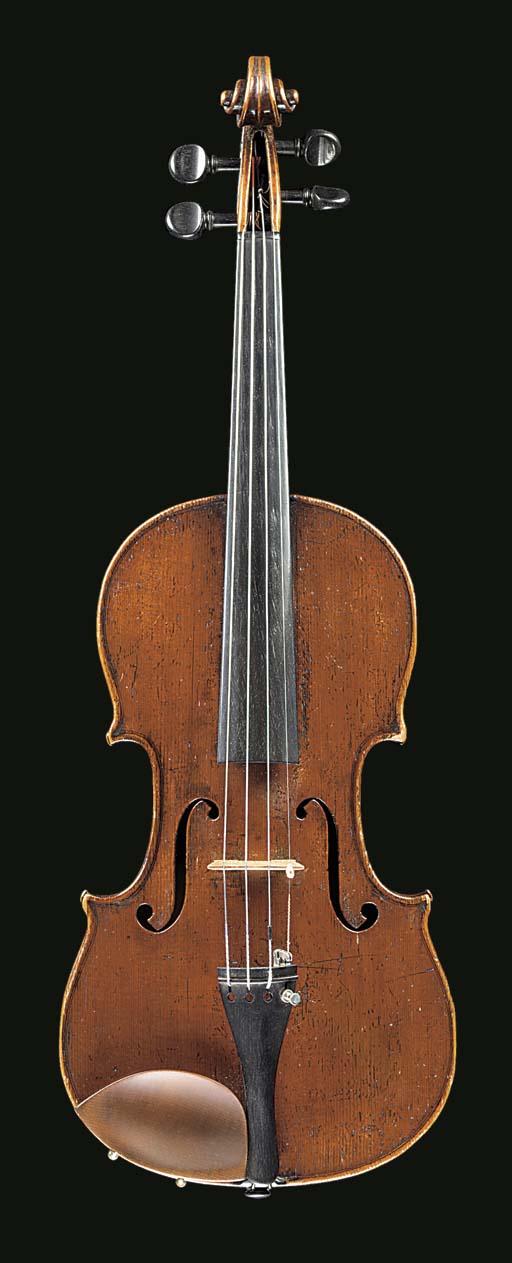 A violin by Anton Hofmann, lab