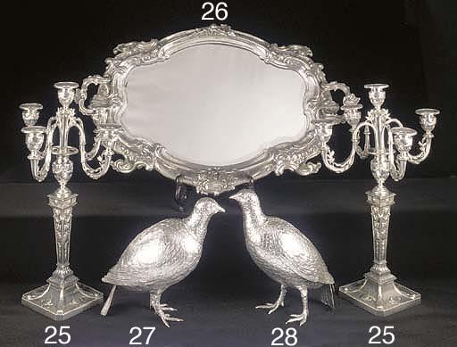 A Continental Silver Partridge