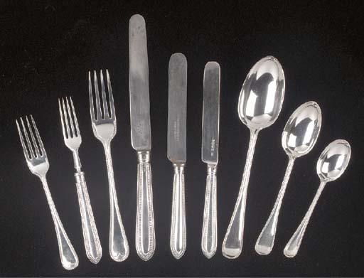 A Victorian Silver Flatware Se