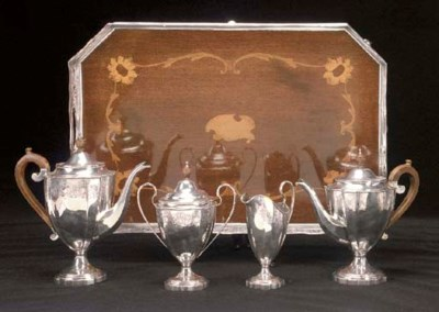 A George V Four-Piece Silver T