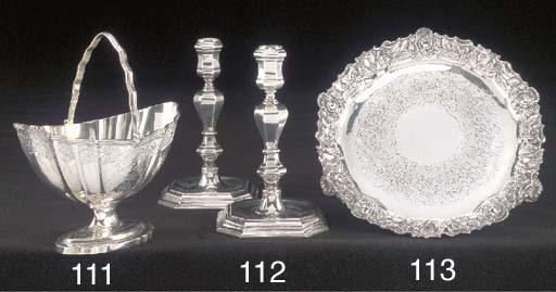 A George IV silver waiter