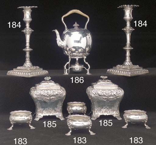 A Set of Four George II Silver Salts