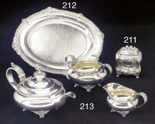 A Three-Piece George IV Silver