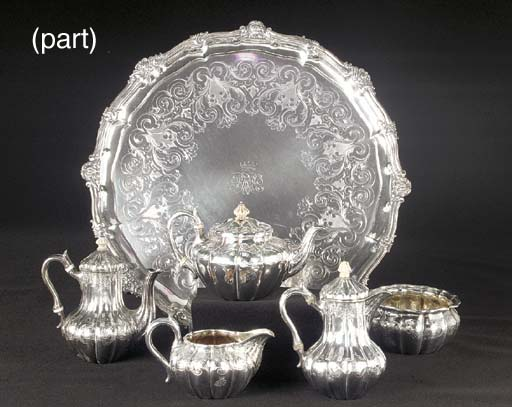 A Cased Victorian Silver Break