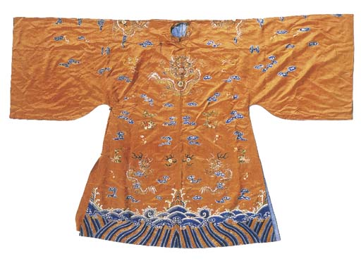 A semi-formal robe of golden y