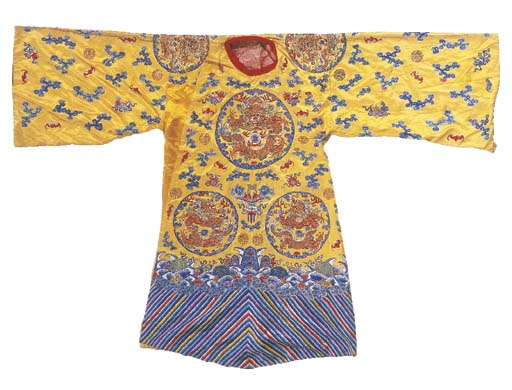 A semi-formal robe of yellow s