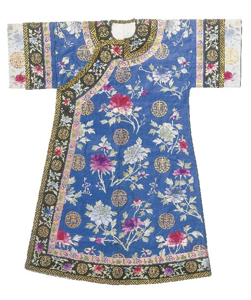 An informal robe of turquoise