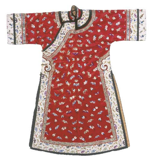 A lady's informal robe of red